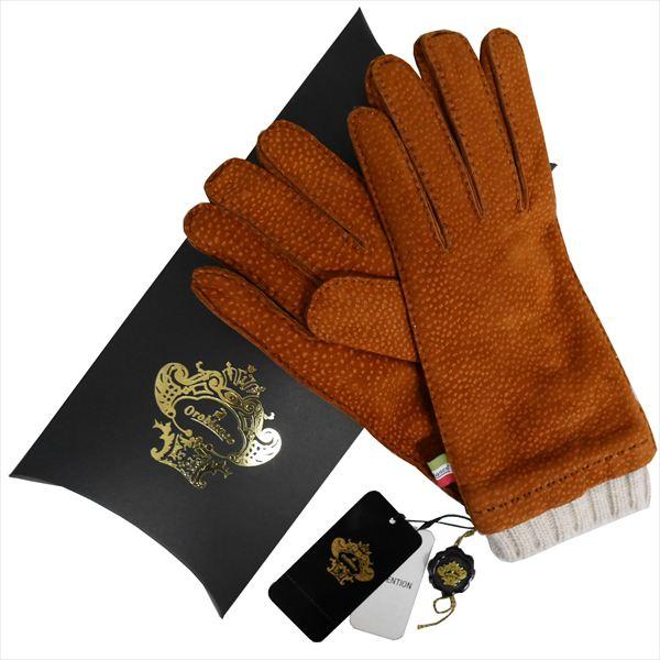 OROBIANCO オロビアンコ メンズ手袋 ORM-1412 Leather glove カピバラ ウール CAMEL サイズ:8(23cm) プレゼント クリスマス【送料無料】