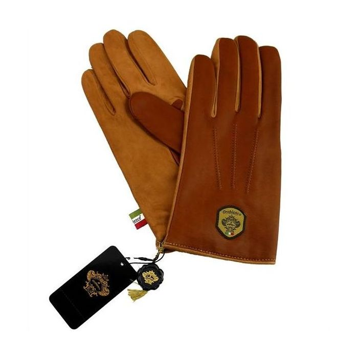 OROBIANCO オロビアンコ メンズ手袋 ORM-1531 Leather glove 羊革 ウール L.BROWN CAMEL 8.5(24cm) 手袋 プレゼント クリスマス【送料無料】