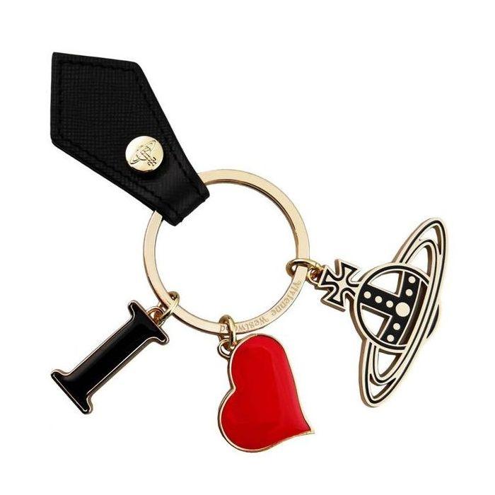 ヴィヴィアンウエストウッド Vivienne Westwood キーリング I LOVE ORB GADGET 321566 265 BLACK 鍵 母の日 父の日【送料無料】