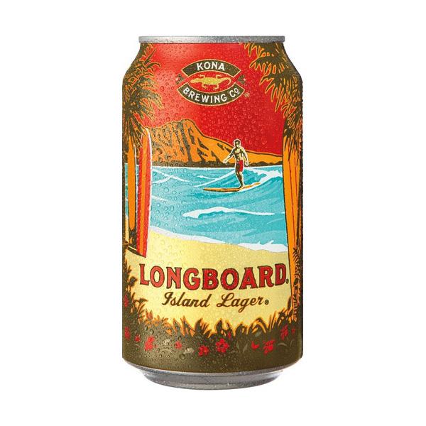 ロングボード ラガー缶【355ml 缶 24本入】 コナビール Longboard Island Lager CAN Kona Beer (赤)【送料無料】