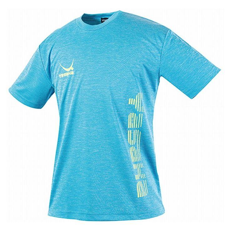ヤサカ(Yasaka) 卓球アパレル プラクティスシャツ LOGO CAT T-SHIRT ロゴにゃんこTシャツ 男女兼用 Y851 ヘザーブルーサイズ:L【S1】