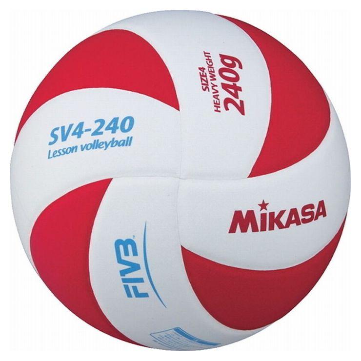 ミカサ(MIKASA) バレーボール レッスンバレー4号(ホワイト×レッド) SV4240WR【S1】