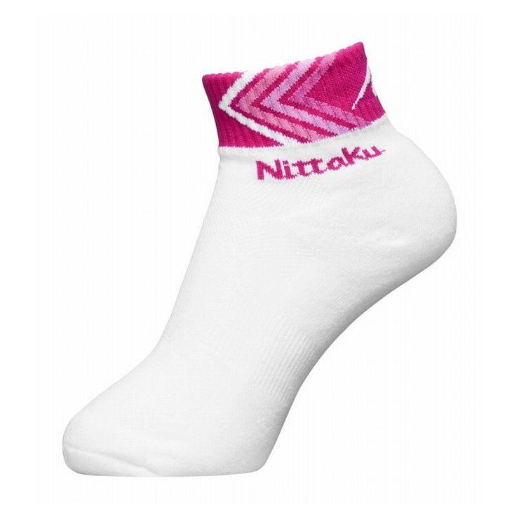ニッタク(Nittaku) 卓球ソックス ARROW SOCKS アローソックス NW2974 【カラー】ピンク 【サイズ】M(22.0-25.0cm)【S1】