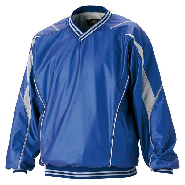 ZETT(ゼット) 野球 長袖Vネックジャンパー BOV410 2300 ブルー M【送料無料】