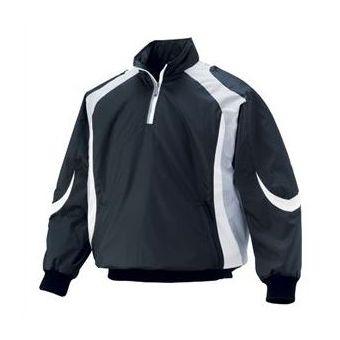 デサント(DESCENTE) 長袖プルオーバーコート STD428 BLK ブラック×シルバー×ホワイト【送料無料】