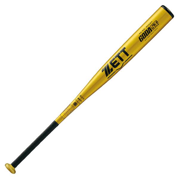 ZETT 硬式金属製バット ゴーダST 83cm BAT13683  イエローゴールド 5300