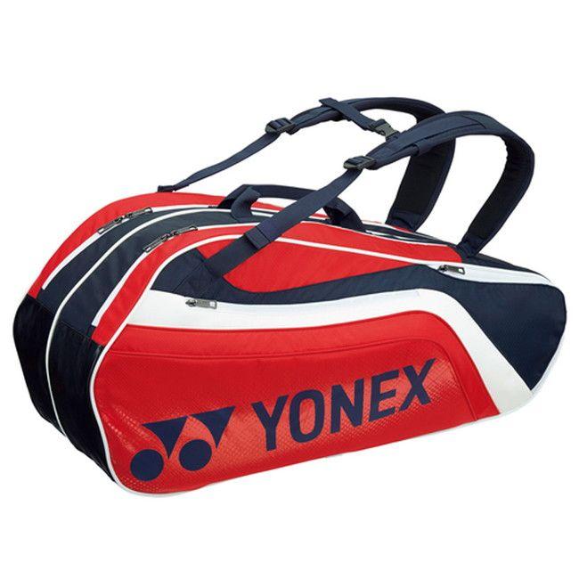 Yonex(ヨネックス) TOURNAMENT SERIES ラケットバック6 リュック付き(ラケット6本用) BAG1812R 【カラー】ネイビー×レッド【送料無料】