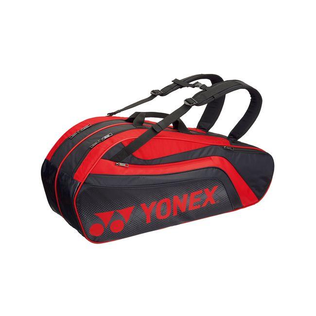 Yonex(ヨネックス) TOURNAMENT SERIES ラケットバック6 リュック付き(ラケット6本用) BAG1812R 【カラー】ブラック×レッド【送料無料】