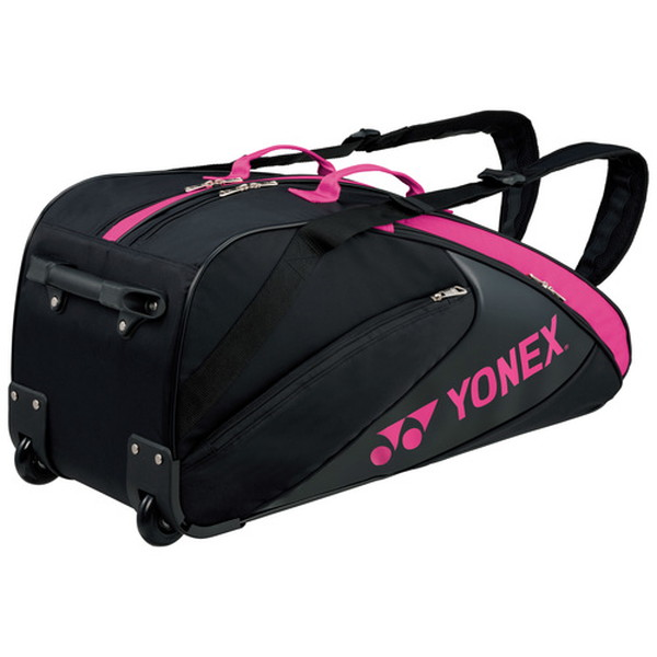 Yonex(ヨネックス) TEAM SERIES ラケットバッグ(キャスター付き・テニスラケット6本用) BAG1732C 【カラー】ブラック×ピンク【送料無料】