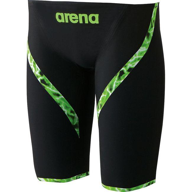 ARENA(アリーナ) AQUAFORCE LIGHTNING ジュニアハーフスパッツ ARN6001MJ 【カラー】ブラック 【サイズ】R130【送料無料】