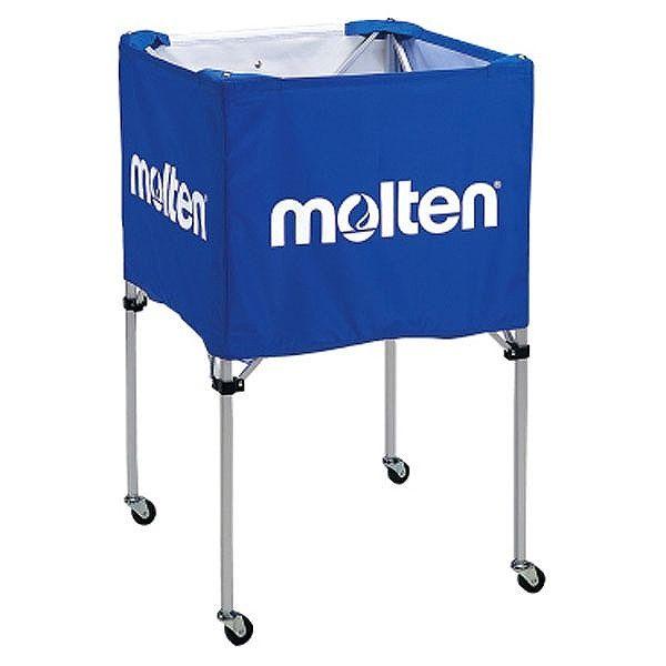 モルテン(Molten) 折りたたみ式ボールカゴ(中・背高 屋内用) 青 BK20HB【送料無料】