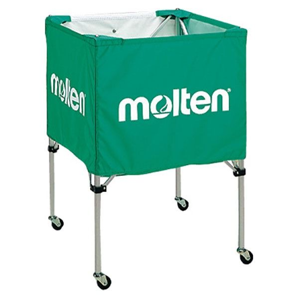 モルテン(Molten) 折りたたみ式ボールカゴ(中・背低) 緑 BK20HLG【送料無料】