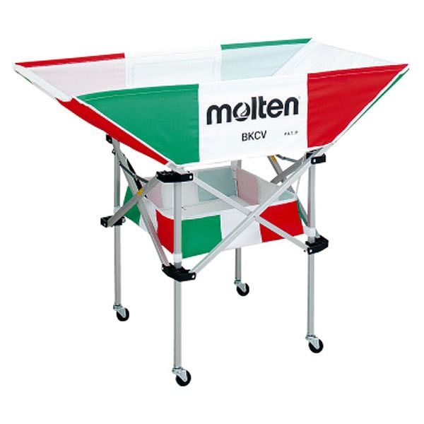 モルテン(Molten) 折りたたみ式平型軽量ボールカゴ(背高) イタリアン BKCVHIT【送料無料】