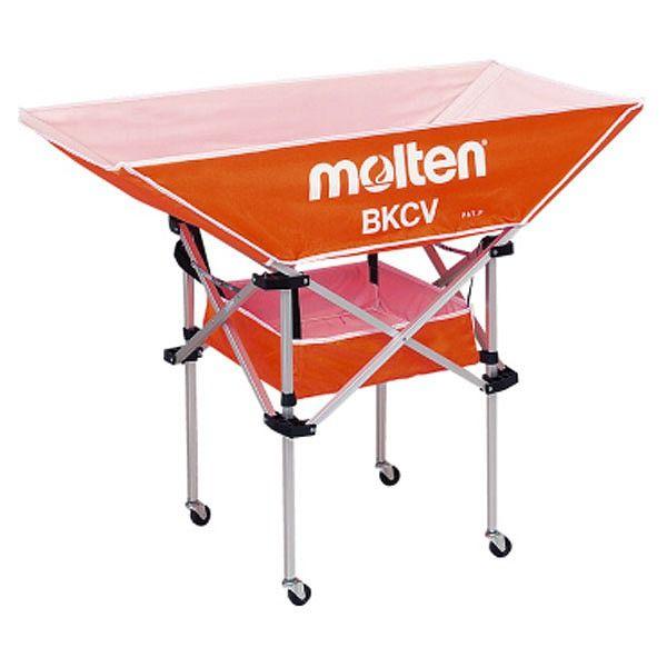 モルテン(Molten) 折りたたみ式平型軽量ボールカゴ(背高) オレンジ BKCVHO【送料無料】
