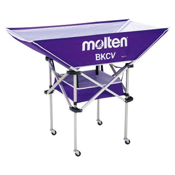 モルテン(Molten) 折りたたみ式平型軽量ボールカゴ(背高) パープル BKCVHP【送料無料】