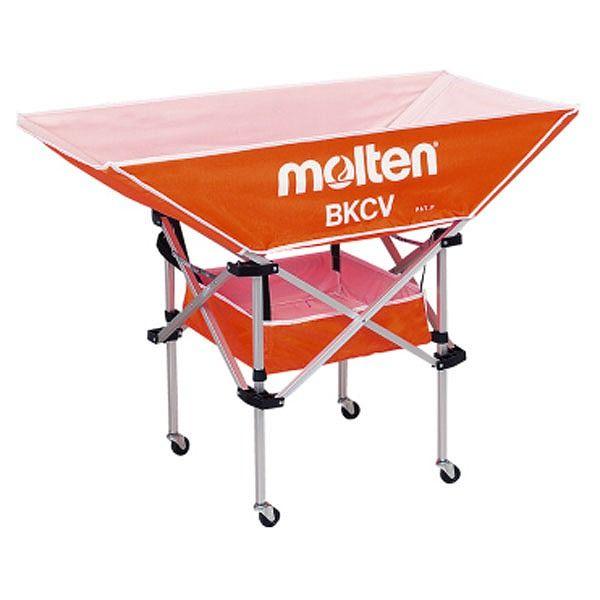 モルテン(Molten) 折りたたみ式平型軽量ボールカゴ(背低) オレンジ BKCVLO【送料無料】