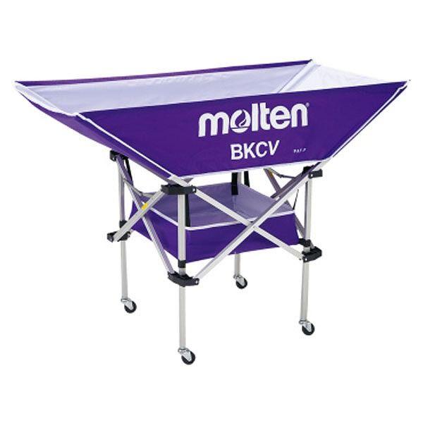 モルテン(Molten) 折りたたみ式平型軽量ボールカゴ(背低) パープル BKCVLP【送料無料】