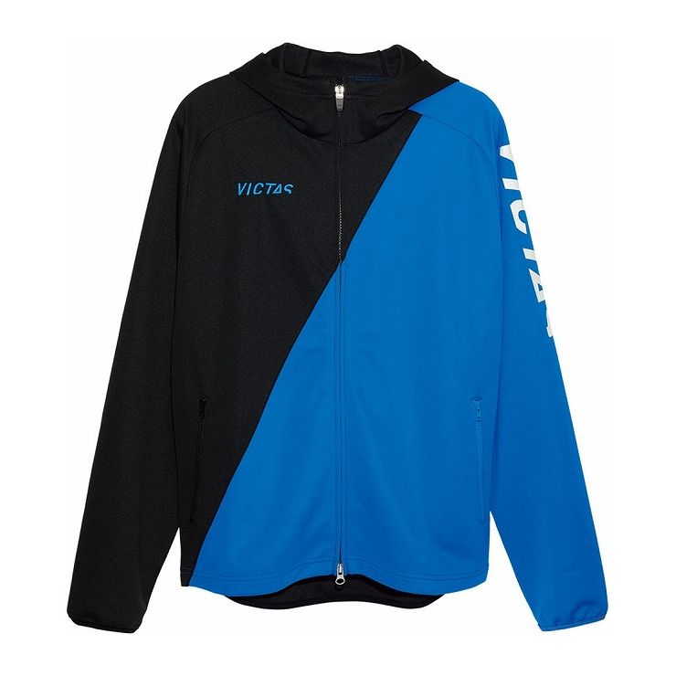 VICTAS(ヴィクタス) VICTAS V‐NJJ056 フーデッドジャージジャケット 33154 【カラー】ブルー 【サイズ】L【送料無料】