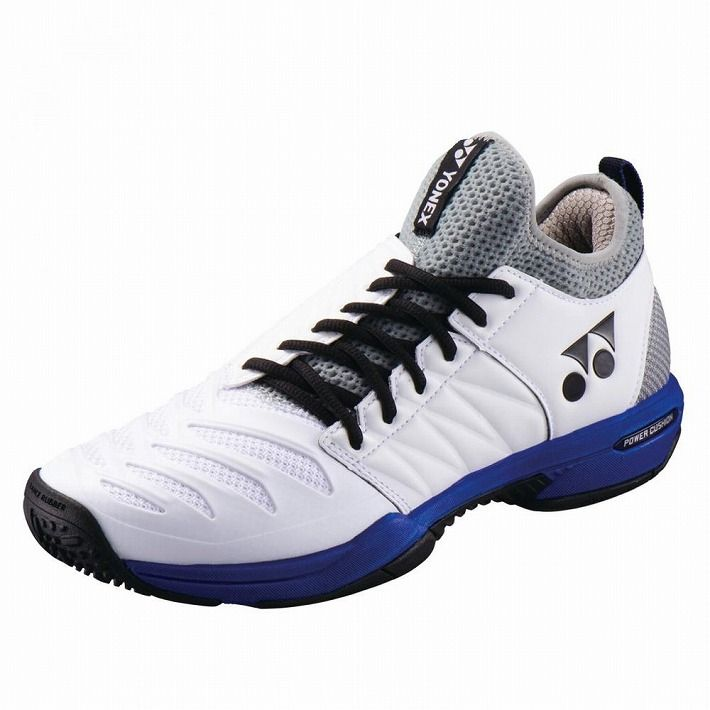 Yonex 【サイズ】24.0 テニスシューズ POWER CUSHION FUSIONREV3 MEN GC SHTF3MGC 【カラー】ホワイト×オーシャンブルー