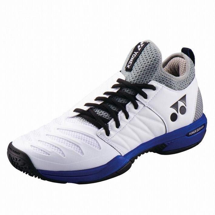 Yonex 【サイズ】25.0 テニスシューズ POWER CUSHION FUSIONREV3 MEN GC SHTF3MGC 【カラー】ホワイト×オーシャンブルー
