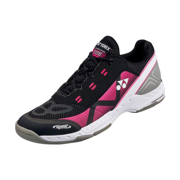 YONEX テニスシューズ POWER CUSHION 506(パワークッション506) カーペットコート用 カラー 【ブラック×ピンク】 サイズ【24.5】【送料無料】