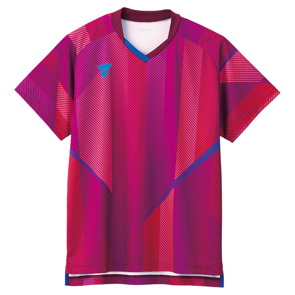 VICTAS 卓球ゲームシャツ V-GS203 男女兼用 031487 【カラー】ピンク 卓球【送料無料】