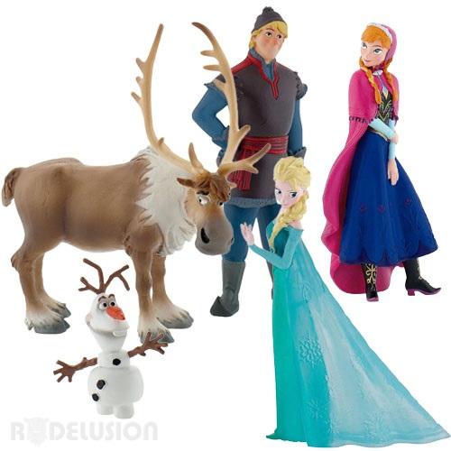 ディズニー ブリーランド アナと雪の女王 ミニフィギュア5体セット DISNEY 【BULLYLAND】
