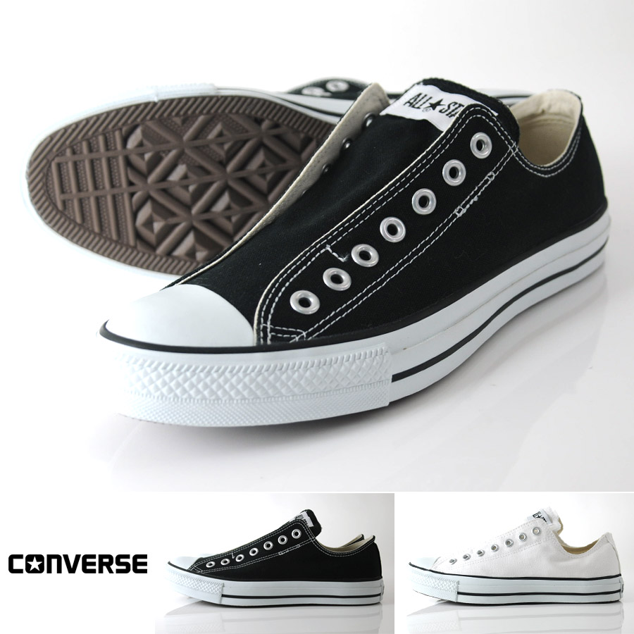 3ae5ce4ff150a Converse slip-ons CONVERSE all-stars slip III low-frequency cut sneakers  slip-ons zipper Taylor ALL STAR (black white) men