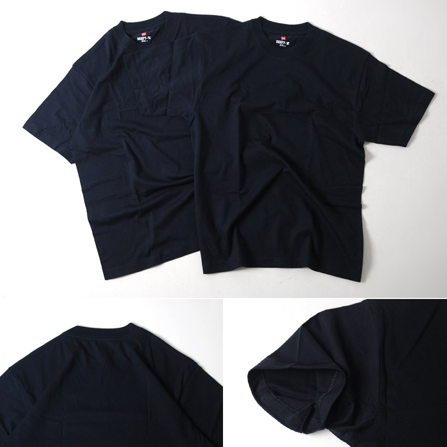 Black t shirt hanes - Hanes T Shirt Beefy 2 Pairs Hanes Beefy T H5180 2 2pac 2 Pack