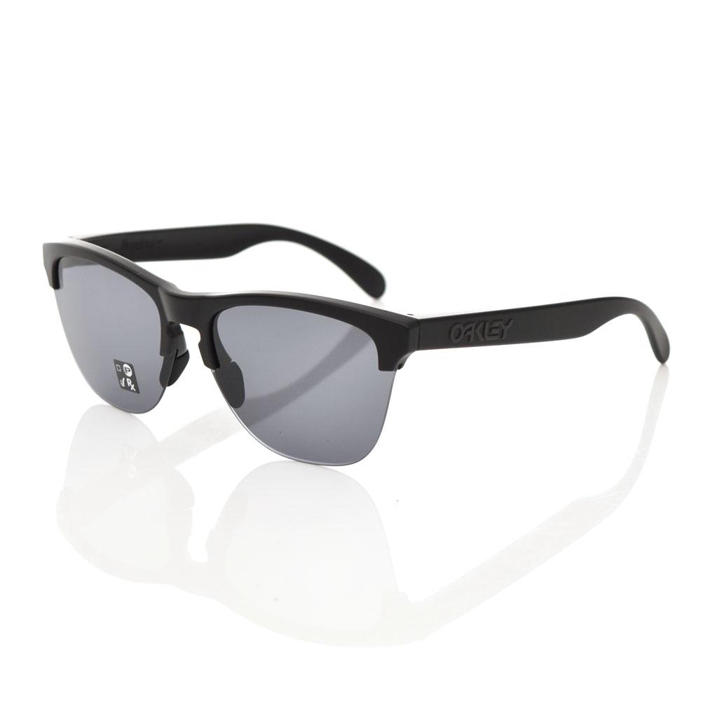 【3%OFFセール】オークリー OAKLEY サングラス フロッグスキン ライト メガネ めがね 眼鏡 メンズ レディース UVカット 紫外線 マットブラックフレーム グレーレンズ FROGSKINS オークレイ オークレー ハーフリム OO9374-0163