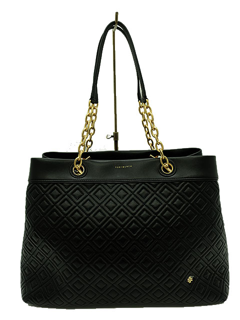TORY BURCH/トリーバーチ/バック/トートバッグ/FLEMING TRIPLE-COMPARTMENT TOTE TRIPLE-COMPARTMENT/ブラック/羊革/チェーン/レディース/送料無料【中古】, マカベグン:90d3c719 --- itxassou.fr