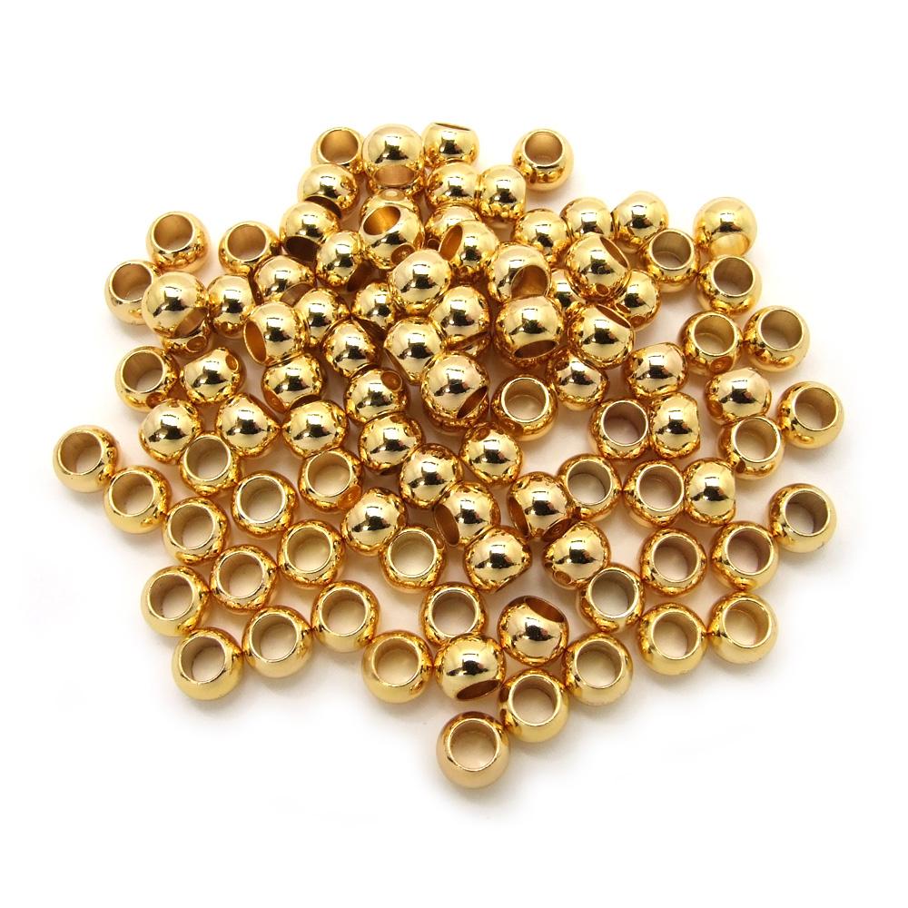 100ヶ入パック 金属ビーズ 大 超特価SALE開催 在庫一掃 5×7mm G ゴールド アクセサリーパーツ メタルビーズ メンズ ビーズ 材料 金色 ブレスレット ネックレス 素材 金属
