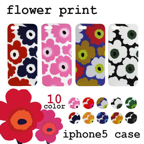 competitive price 8121a 27fcb All ten colors of NEW ♪ floral design print iPhone5/5s flower case ♪  marimekko /marimekko style ウニッコ pattern plastic hardware case ★ ...