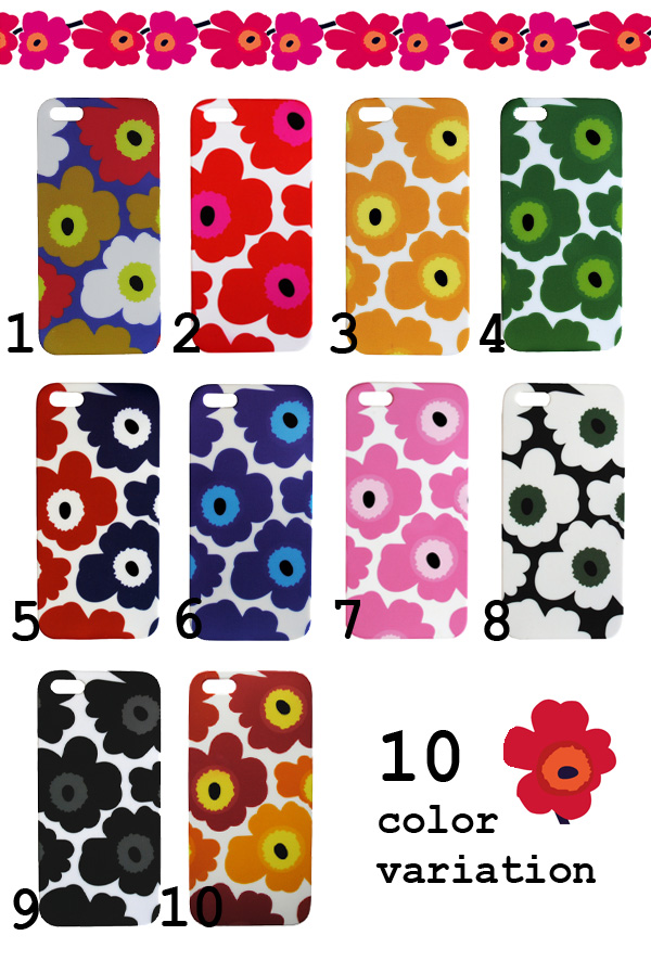 competitive price 0b718 08ac5 All ten colors of NEW ♪ floral design print iPhone5/5s flower case ♪  marimekko /marimekko style ウニッコ pattern plastic hardware case ★ ...
