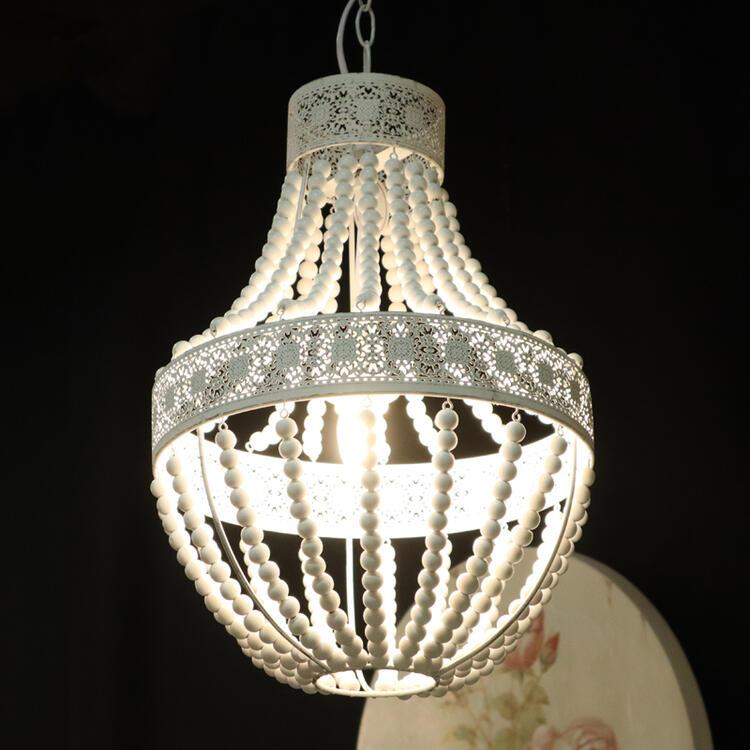 マチルドエム 1灯シャンデリアフレンチ シャビー シャビーシック アンティーク ライト エレガント ダイニング シャンデリア ランプ ホワイト おしゃれ かわいい 1灯 照明 白 玄関 北欧 送料無料REMDLUSUSU0001