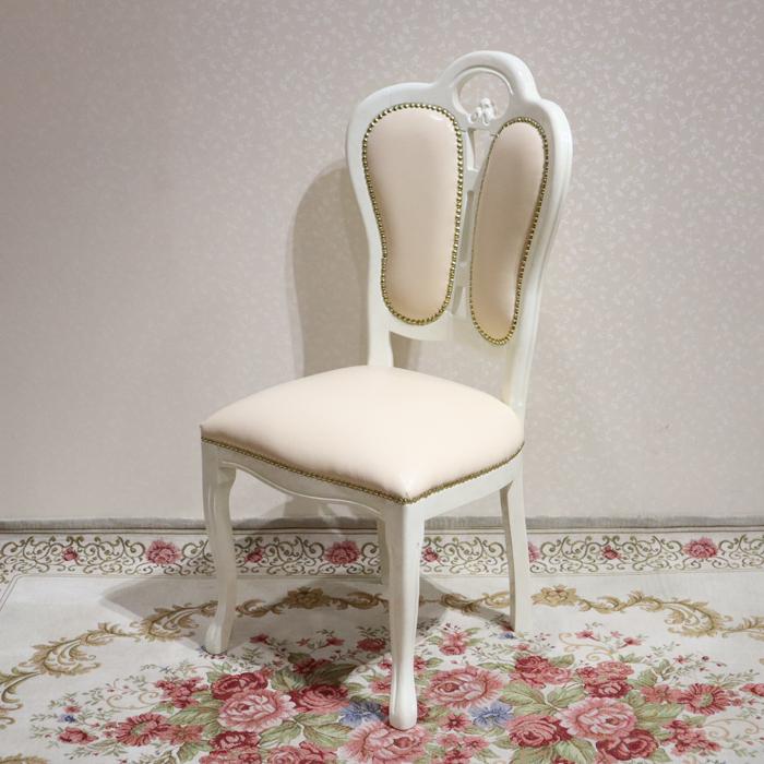 ★サルタレッリ フローレンス ダイニングチェア 合皮 北欧 エレガント クラシック プリンセス ローズ チェア ダイニング ホワイト アイボリー レザー 合皮 おしゃれ かわいい 白 猫脚 食卓 椅子 イタリア製 白家具 送料無料SFLI-522-IV