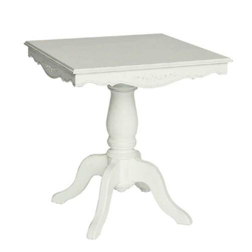 Romance ロマンス スクエアテーブルフレンチ シャビー シャビーシック アンティーク サイドテーブル カフェテーブル ティーテーブル テーブル エレガント ホワイト おしゃれ かわいい 白 玄関 四角 正方形 北欧 送料無料RE0121140