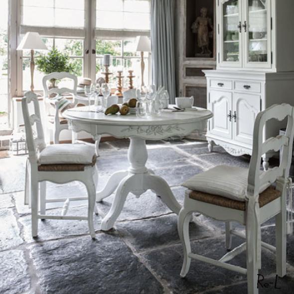 Romance ロマンス チェア 211002Country cornerカントリーコーナー社フレンチアンティーク白家具シリーズ【クラシック シャビー ホワイト 椅子 輸入家具】