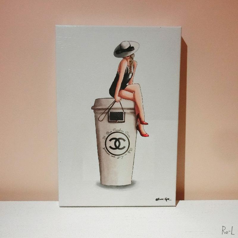 Cafe Au Lait Cambon 25.4cm×38.1cm【Olivergal オリバーガル】壁掛け絵 絵画 アート 受注販売商品 24270
