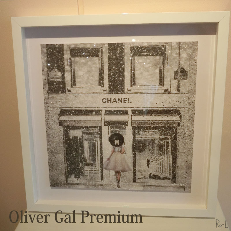 【あす楽対応】Queen of the Store PREMIUM 限定カラー【Olivergal オリバーガル】壁掛け絵 絵画 額絵 アート ラメ入り 41cm×41cm 20202C