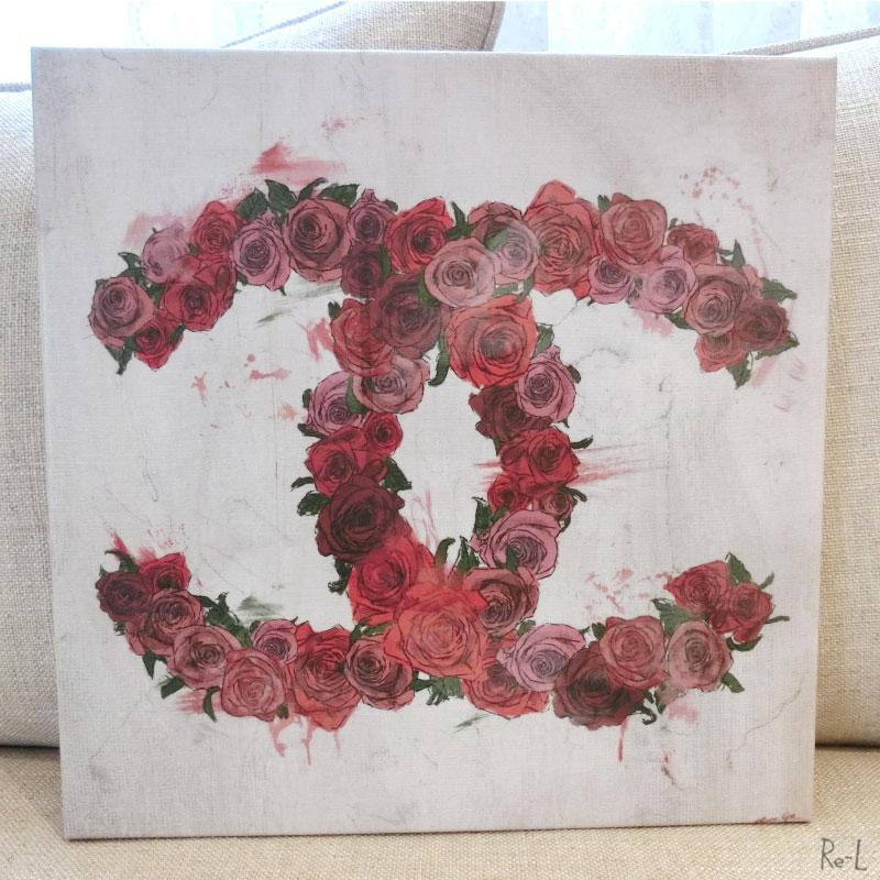 LOVE ROSES - MODERNARTE 12673【Olivergal オリバーガル】壁掛け絵 絵画 アート 母の日ギフト 30.4cm×30.4cm