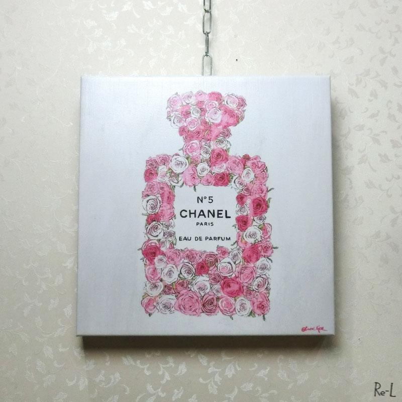 ★Number 5 Rose 2 17122Olivergal オリバーガル 壁掛け絵 絵画 アート 30.4cm×30.4cm
