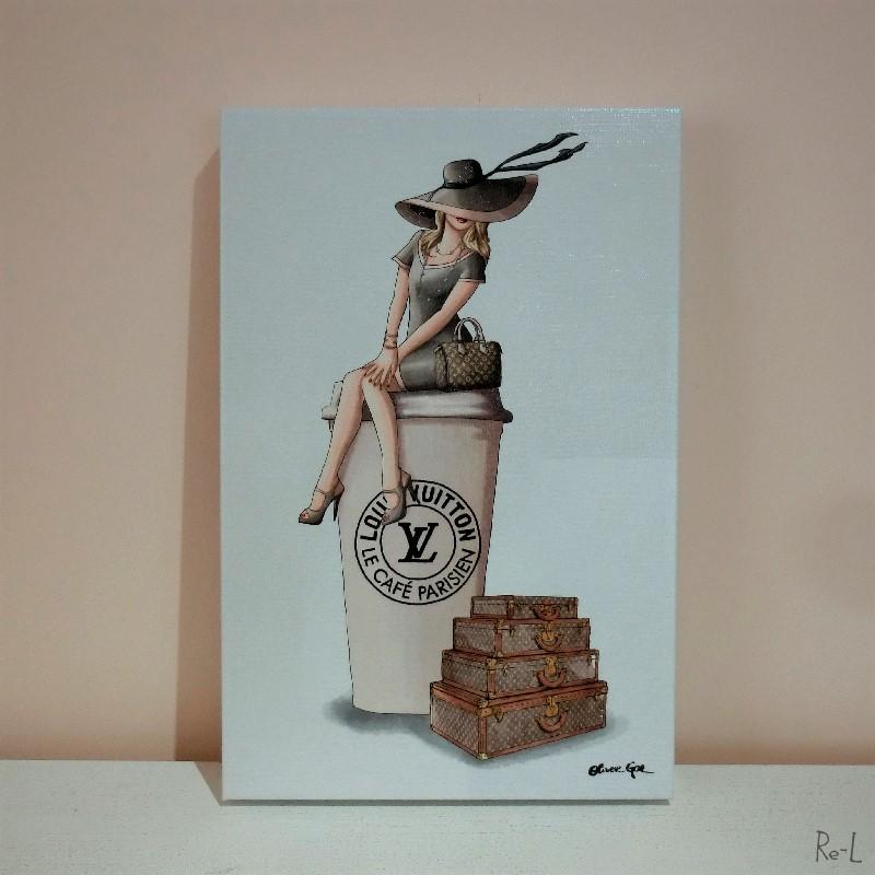 Cafe au Lait Paris【Olivergal オリバーガル】壁掛け絵 絵画 アート 受注販売商品 24273