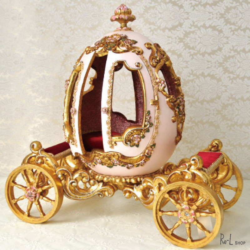 【数量限定入荷】プリンセスエッグコーチオブジェ KATHERINE'S COLLECTION 【キャサリンコレクション】 ロマンチックなコーチのオブジェ 置物 ピンク REKC130