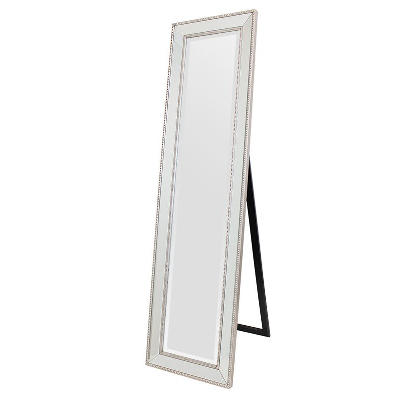 エレガント スタンドミラー 姿見 鏡 シルバー×ゴールド壁掛けミラー ウォールミラーREXR-3378-150