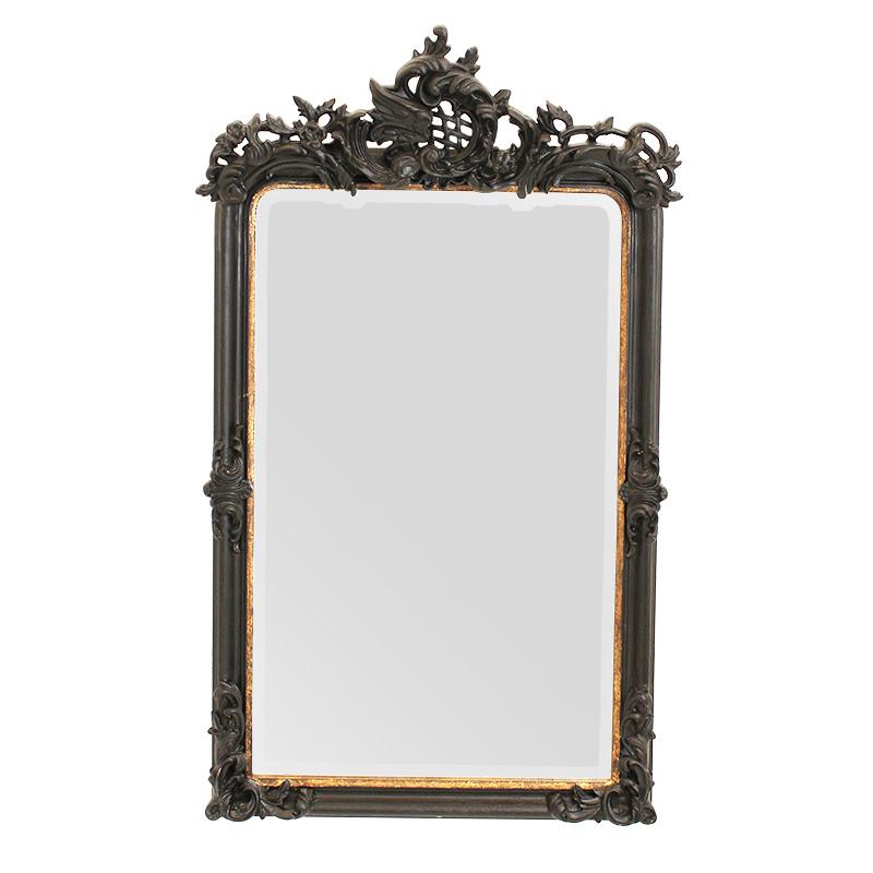 ★エレガント BIG壁掛けミラー 角形 鏡 ブラックウォールミラー 高さ125cm 壁掛け鏡SS-201-RB