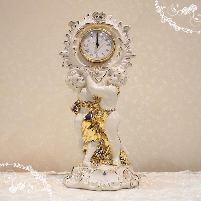 イタリア製 置き時計 クロック クロック ホワイト ゴールド ゴールド 置き時計 ディスプレイにRE0524-6442, 横手市:125a9bd2 --- sunward.msk.ru