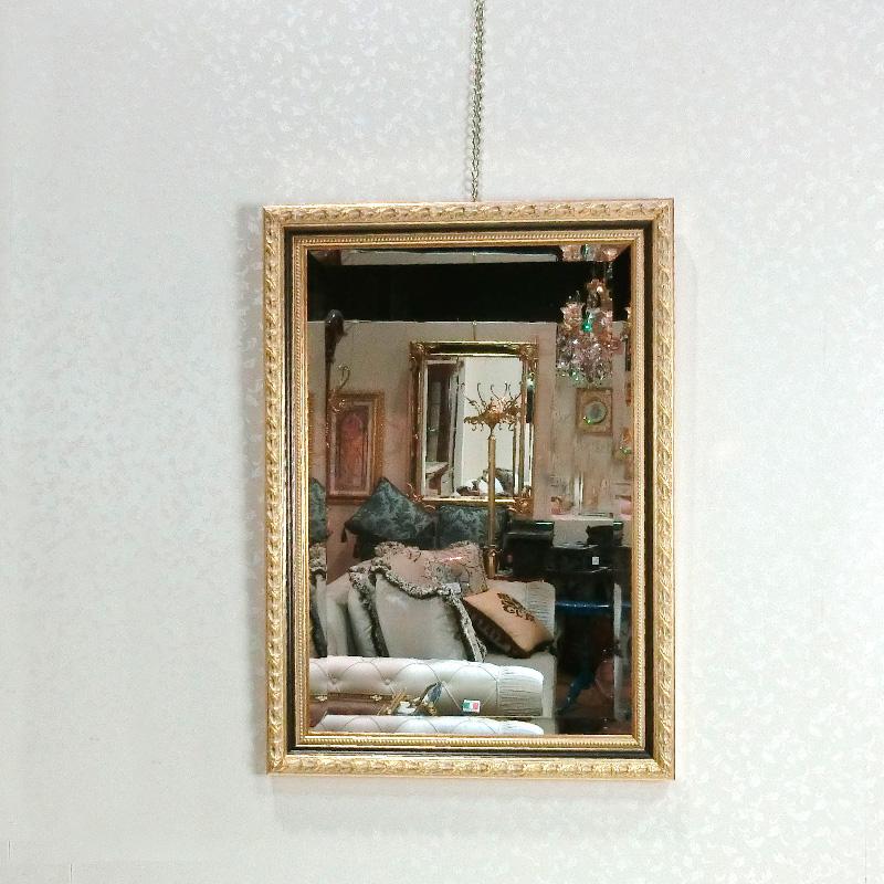BERTOZZI(ベルトーチ)イタリア製 エレガント 壁掛けミラー 角形 鏡 ブラック×ゴールドウォールミラー 壁掛け鏡 アンティーク クラシックRE0808436