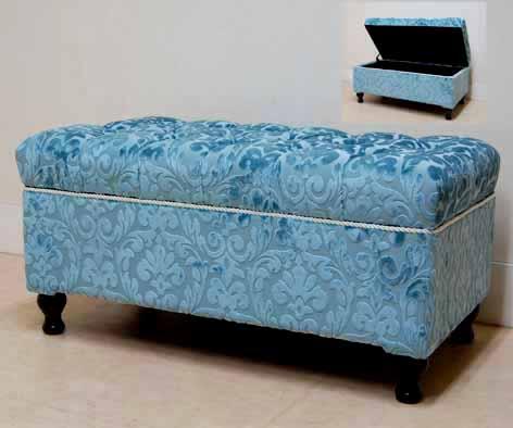 ジェニファーテイラー 収納付きベンチ Winston blueアメリカ ベンチ スツール ソファ アンティーク プレゼント ギフト スリム サロン おしゃれ かわいい 姫系 姫 北欧 椅子 収納 送料無料REWB-2403