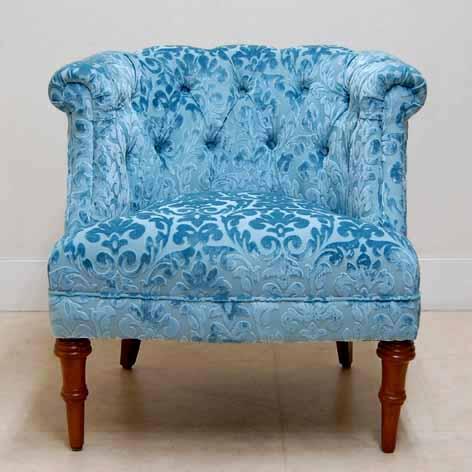 ジェニファーテイラー アームチェア Winston blueJennifer Taylor ソファ ラムズゲイトチェア ファブリック モダン エレガント ソファー おしゃれ かわいい 1人 1人掛けソファ 1人掛け 椅子 布 北欧 送料無料REWB-2483-1